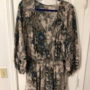 Free People Floral Tunic/Dress Size M